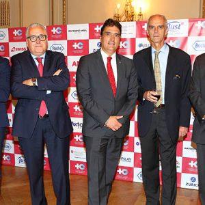 Cristian Stancanelli (ADECCO), Francisco Martínez Domene (ADECCO), Hanspeter Mock (Embajador De Suiza), Jorge Fassbind Y Fabián Von Brocke (JUST)