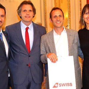 Diego Disabato (EXPAN), Luís Monreal (LUFTHANSA), Ignacio García Thieme (NOVARTIS) Y Cecilia Dibárbora (CCSA)