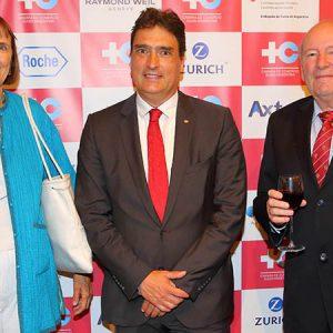 Norma Alemann, Hanspeter Mock (Embajador De Suiza) Y Herbert Karch