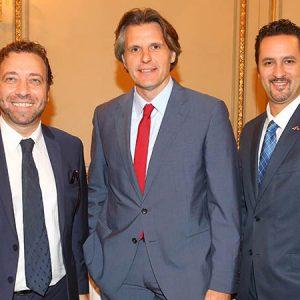 Roberto Palais (INPROTUR), Luis Monreal (LUFTHANSA) Y Diego Disabato (EXPAN)