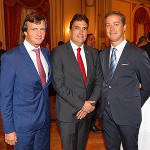 Andrés Willa (ESTUDIO WILLA), Hanspeter Mock (Embajador De Suiza) Y Gonzalo Albarrancín