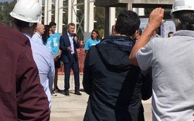 Macri visitó las obras de Ferma en el Parque Olímpico
