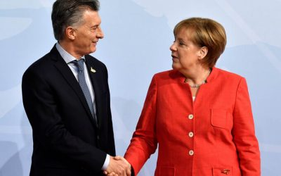 Macri se reunió con Merkel y varios empresarios antes del WEF 2018
