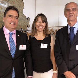 Hanspeter Mock (Embajador De Suiza), Cecilia Dibarbora Y Jorge Fassbind (CCSA)