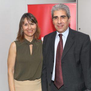 Cecilia Dibarbora (CCSA) Y Victor Rodríguez (Novartis)