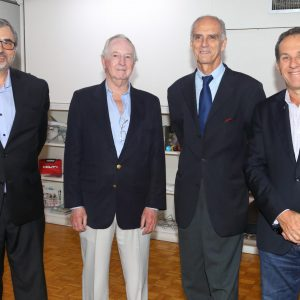 Ernesto Kohen (Chronex), Rodolfo Koennecke, Jorge Fassbind (CCSA) Y Diego Zbar (Bridgelink)