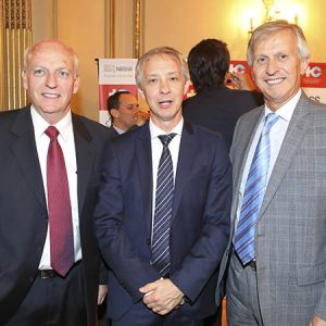 Arnaldo De Marzi (SGS), Alejandro Lentz (Embajada Suiza), Jorge Dietl (KPMG)