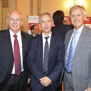 Arnaldo De Marzi (SGS), Alejandro Lentz (Embajada De Suiza), Jorge Dietl (KPMG)