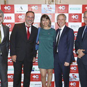 C. Schilling (Clariant), Pablo Manrique (Nestlé Argentina) , C. Dibárbora (CCSA), A. Lentz (Embajada Suiza), L. Bel (Nestlé Argentina)