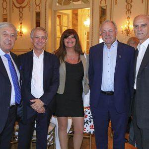 Carlos Pitta, (Multimarketing E Inversor R. Estate) Alejandro Lentz (Embajada De Suiza), Cecilia Fraire Y Walter Steiner (Zanella), Jorge Fassbind (CCSA)