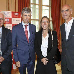 Daniel Grünenfelder (Embajada De Suiza), Embajador Heinrich Schellenberg, Alexia Rosentha (Tanoira Cassagne Abogados), Jorge Fassbind (CCSA)