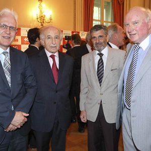 Daniel Grünenfelder (Embajada De Suiza En Argentina), Alfonso Freyvogel, Carlos Barembuem (Sinax), Kramer Beat (Hospital Aleman)