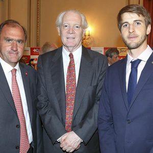 Edgardo Padinger (Ferma SA), Alberto Lisdero, Héctor Pourtalé (Productos Roche)