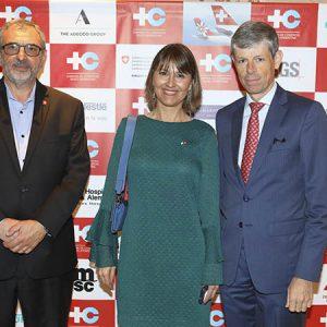 Ernesto Kohen (Chronex), Cecilia Dibárbora (CCSA), Embajador Heinrich Schellenberg
