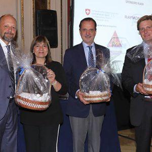 Fabián Von Brocke (Just), Laura Encabo, Gustavo Santarelli (Rolex), Christian Zweifel (La María Luisa)