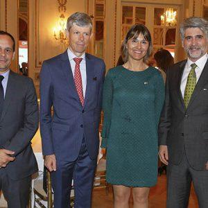 Fausto Spotorno, Embajador Heinrich Schellenberg, Cecilia Dibárbora (CCSA), Carlos Schilling (Clariant)