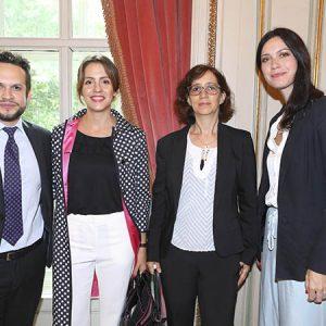 Joaquin Pagano (Own Hoteles), Ayelen María Ghersi (Cancillería), Claudia Rey (Ministerio De Producción), Guadalupe Appleyard (Own Hoteles)