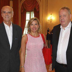 Jorge Fassbind (CCSA), Pamela Correani, (Plan Belgrano), Pierre Metrailler (Arunam)