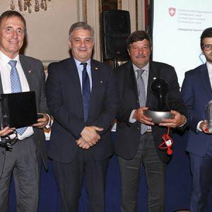 Juan Javier Negri, L. Bel (Nestlé Arg.), Dardo Chiesa (FARM), Agustín Alonso (UBS)