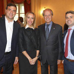 Luciano Morad ( Pilay), Gabriela Añon (Capitel), Rodolfo Dietl (CCSA), Ramiro Santurio (Leonhardt Dietl & Abogados)