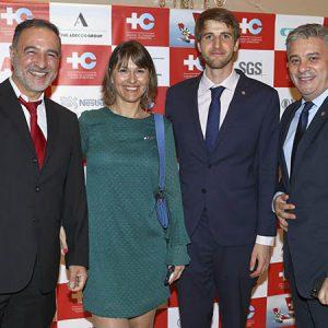 Pablo Manrique (Nestlé Argentina), Cecilia Dibárbora (CCSA), Héctor Pourtalé (Productos Roche), Leandro Bel (Nestle Argentina)
