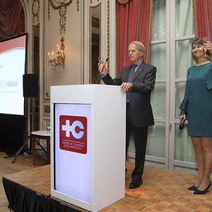 Rodolfo Dietl (Presidente CCSA), Cecilia Dibárbora (CCSA)