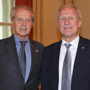Rodolfo Dietl (Pte CCSA), Paul Josef Berni (Cónsul En Rosario)