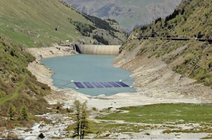 Energía: demuestran un parque solar flotante