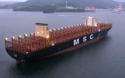 MSC: el portacontenedores más grande del mundo concluyó su viaje inaugural