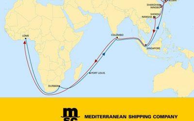 MSC Group mejora las conexiones entre China y África Occidental