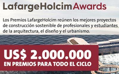 Los LafargeHolcim Awards entregarán USD 2 millones entre efectivo y proyectos