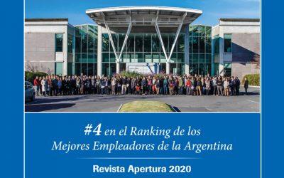 ROCHE ARGENTINA #4 EN EL RANKING DE MEJORES EMPLEADORES DE «APERTURA»