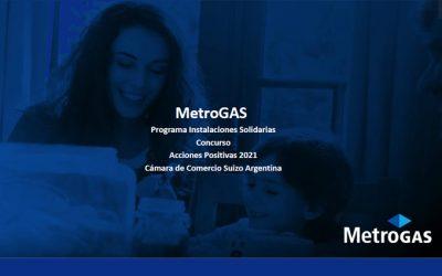 ACCIONES POSITIVAS: «PROGRAMA «INSTALACIONES SOLIDARIAS» DE METROGAS